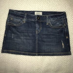 Aeropostale Dark Wash Jean Mini Skirt Size 0